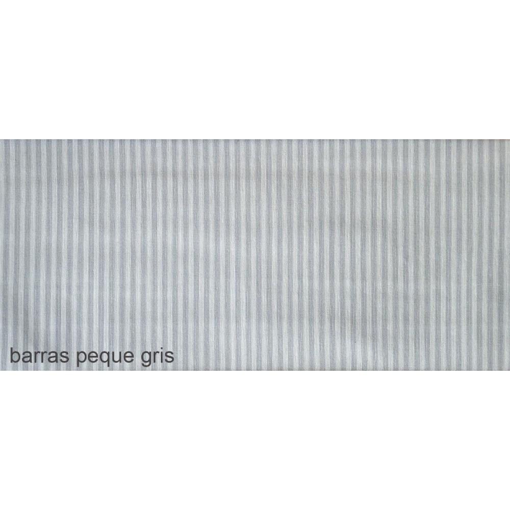 Ύφασμα λονέτα με το μέτρο Estampada Barras peque gris