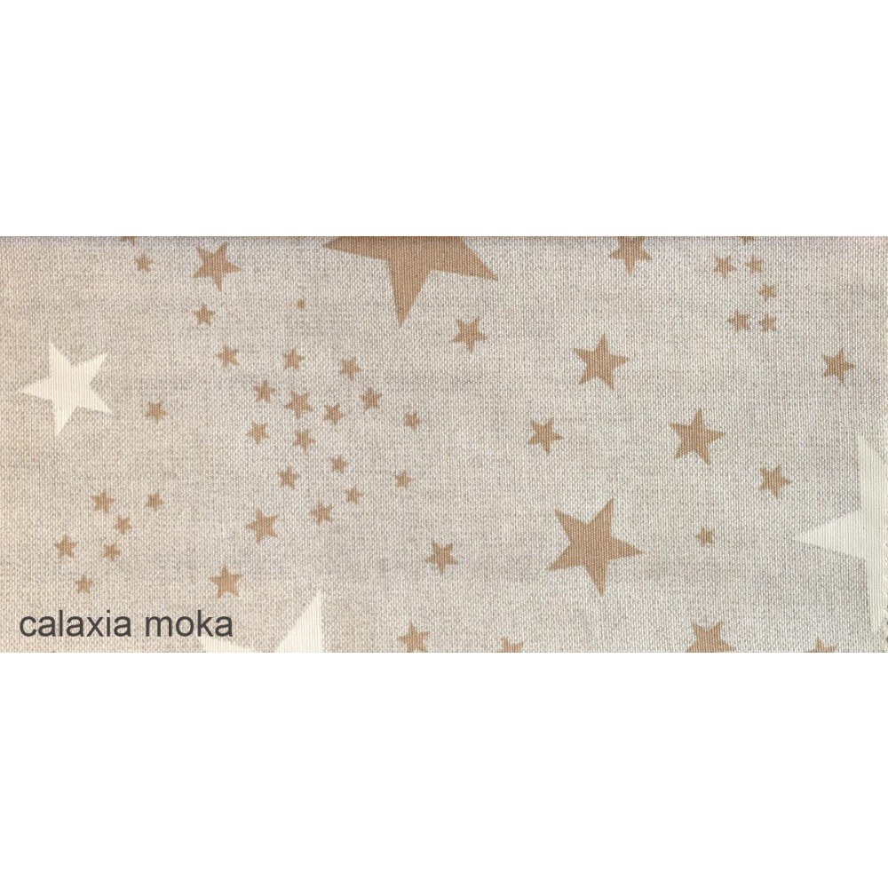 Ύφασμα με το μέτρο Estampada Galaxia moka