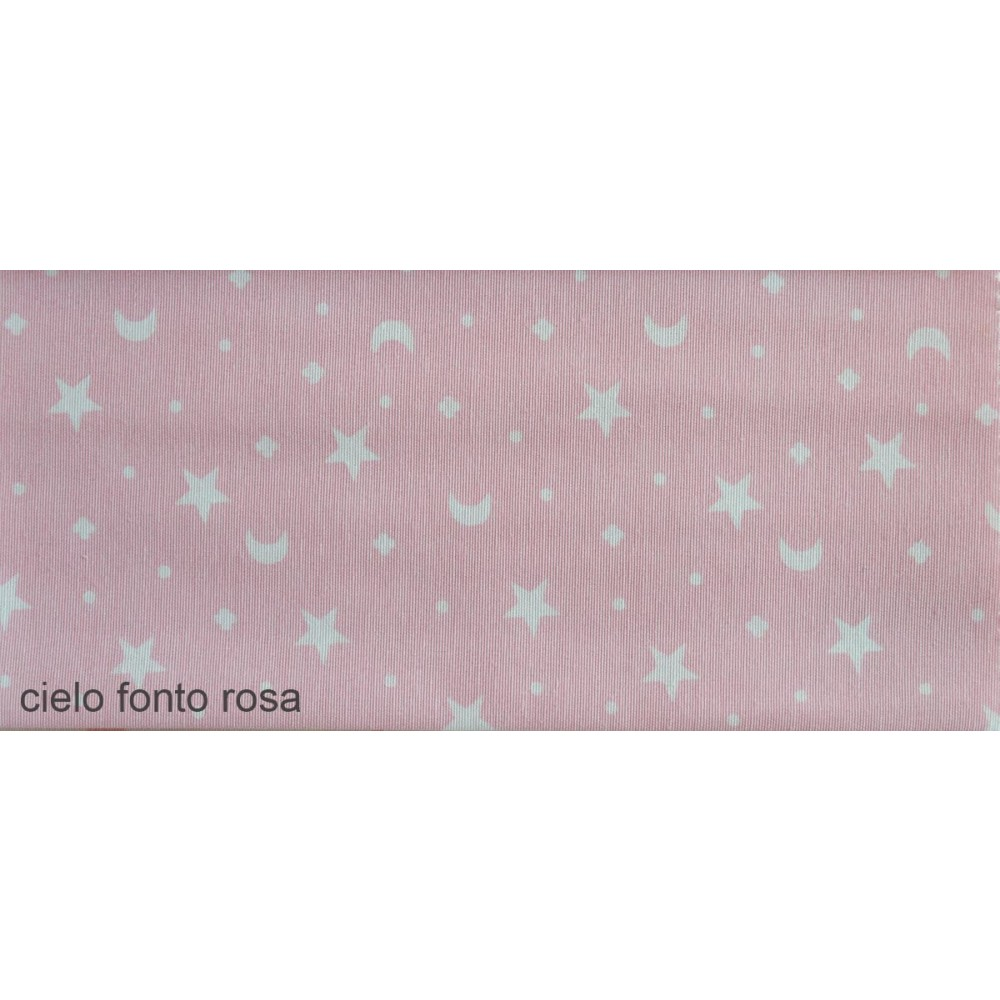 Ύφασμα λονέτα με το μέτρο Estampada Cielo fonto rosa