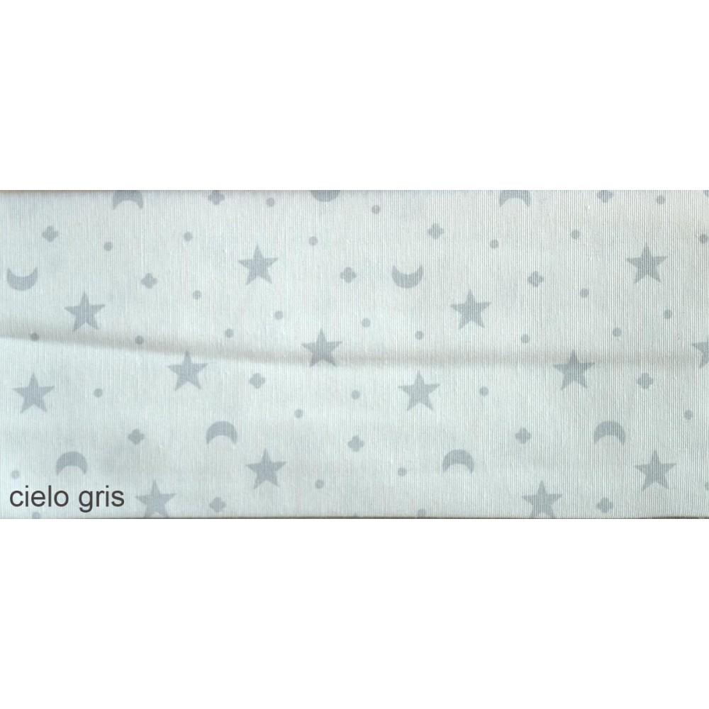 Ύφασμα λονέτα με το μέτρο Estampada Cielo gris