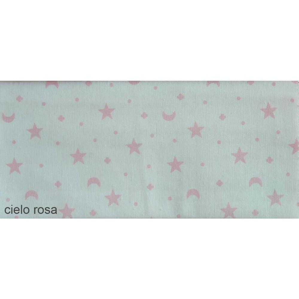Ύφασμα λονέτα με το μέτρο Estampada Cielo rosa