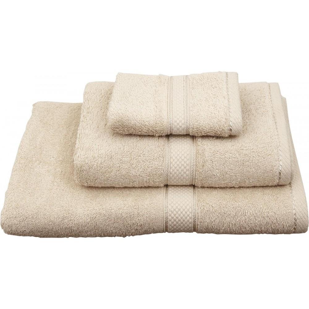 Πετσέτες μονόχρωμες μπεζ Viopros Classic