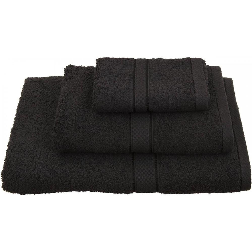 Πετσέτες μονόχρωμες μαύρες Viopros Classic
