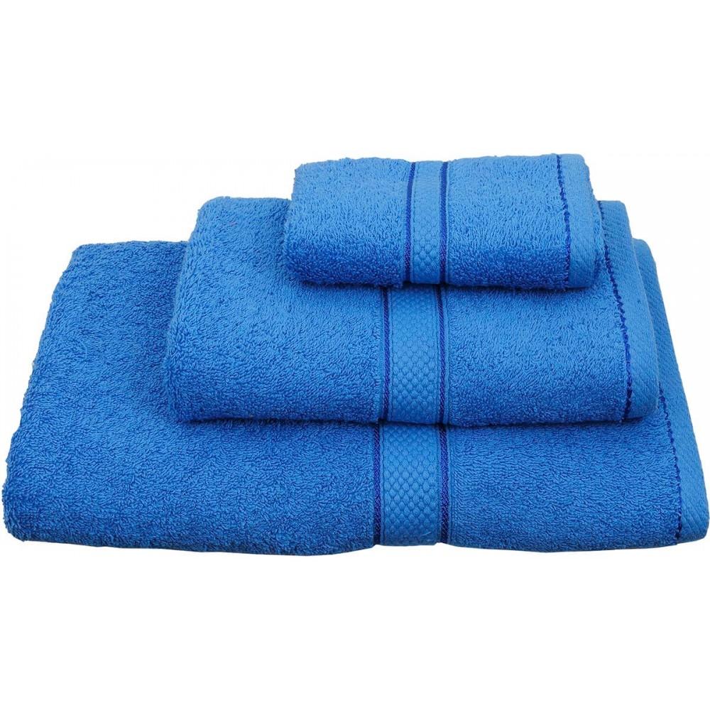 Πετσέτες μονόχρωμες μπλε Viopros Classic