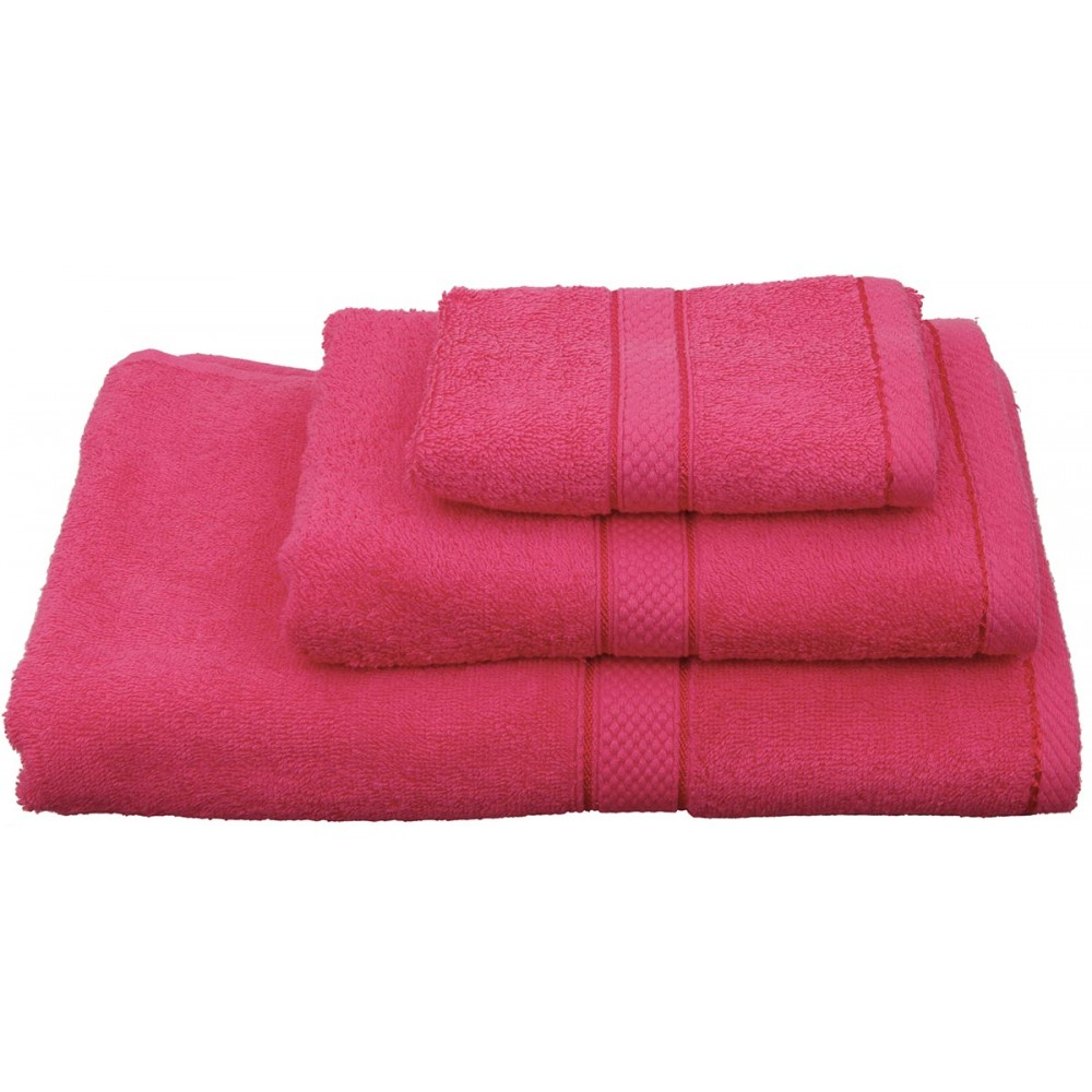 Πετσέτες μονόχρωμες φούξια Viopros Classic