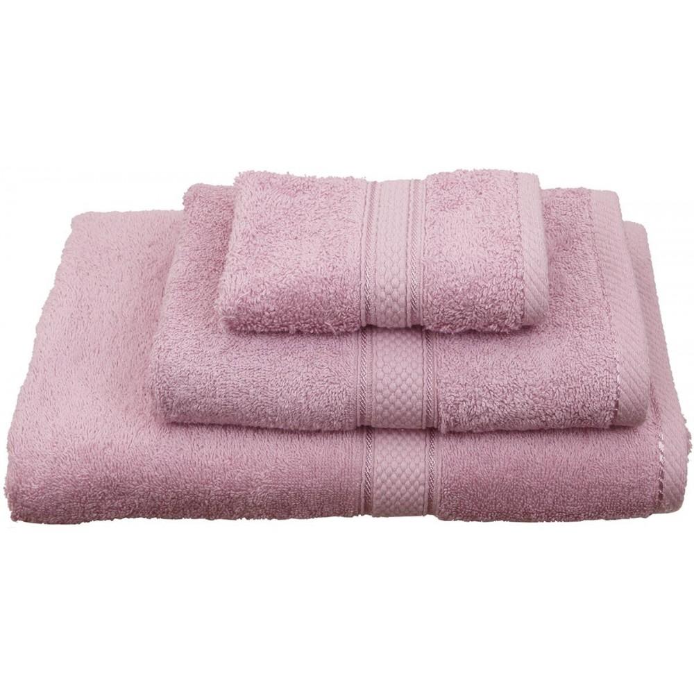 Πετσέτες μονόχρωμες ροζ  Viopros Classic