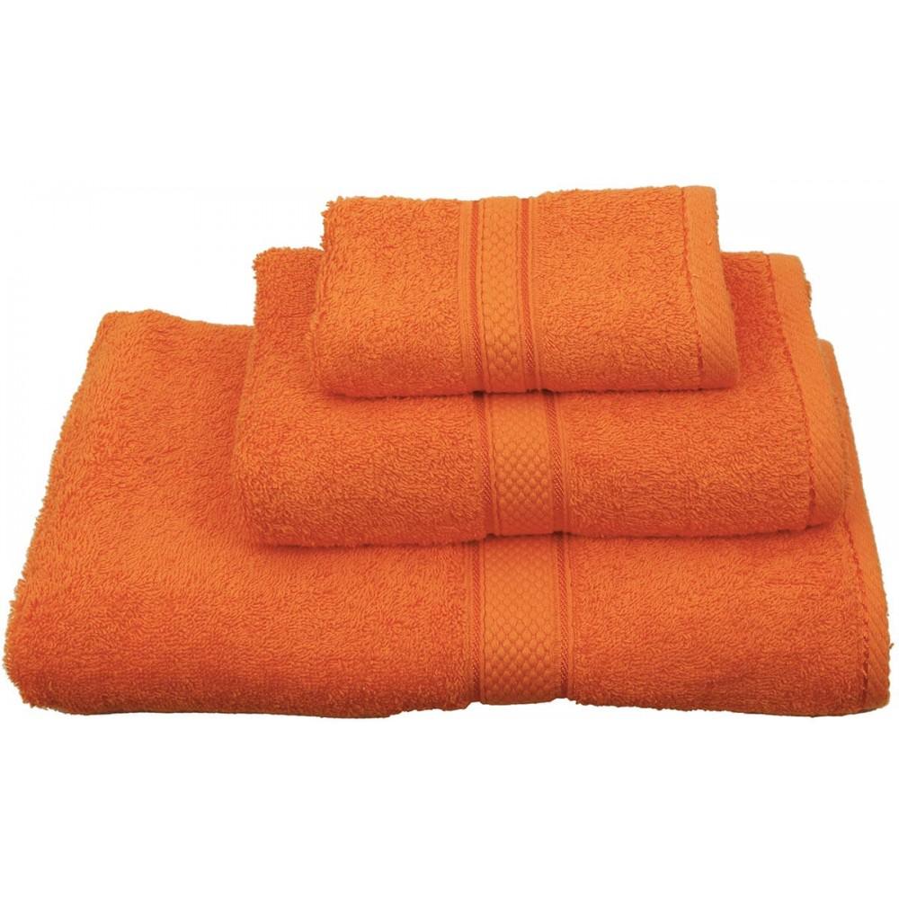 Πετσέτες μονόχρωμες πορτοκαλί Viopros Classic
