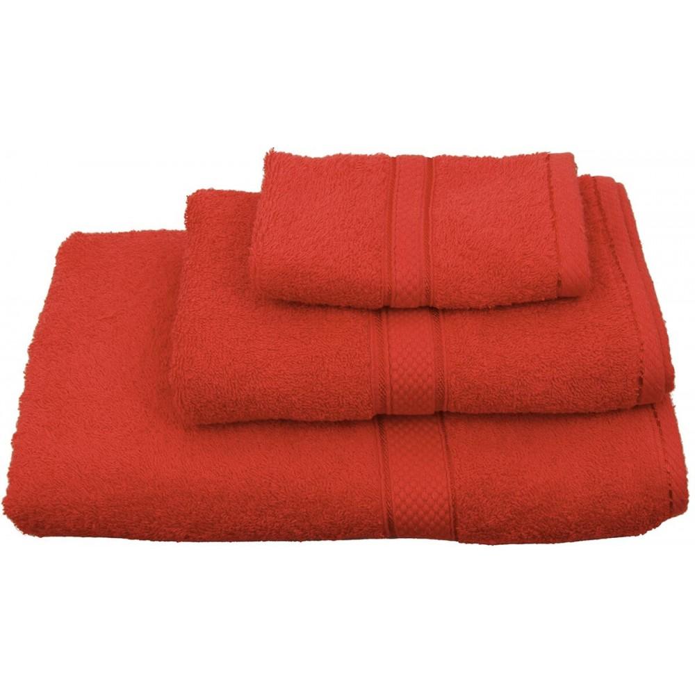Πετσέτες μονόχρωμες κόκκινες Viopros Classic