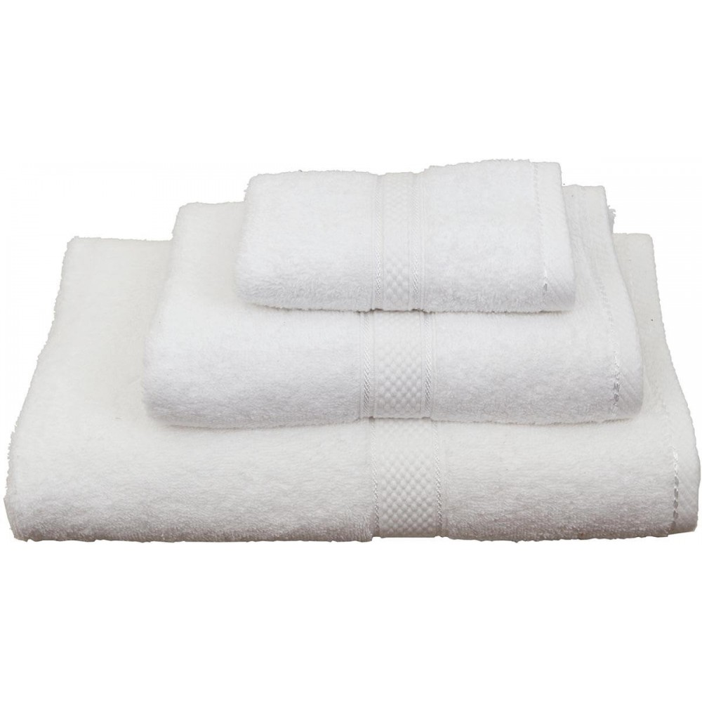 Πετσέτες μονόχρωμες λευκές Viopros Classic