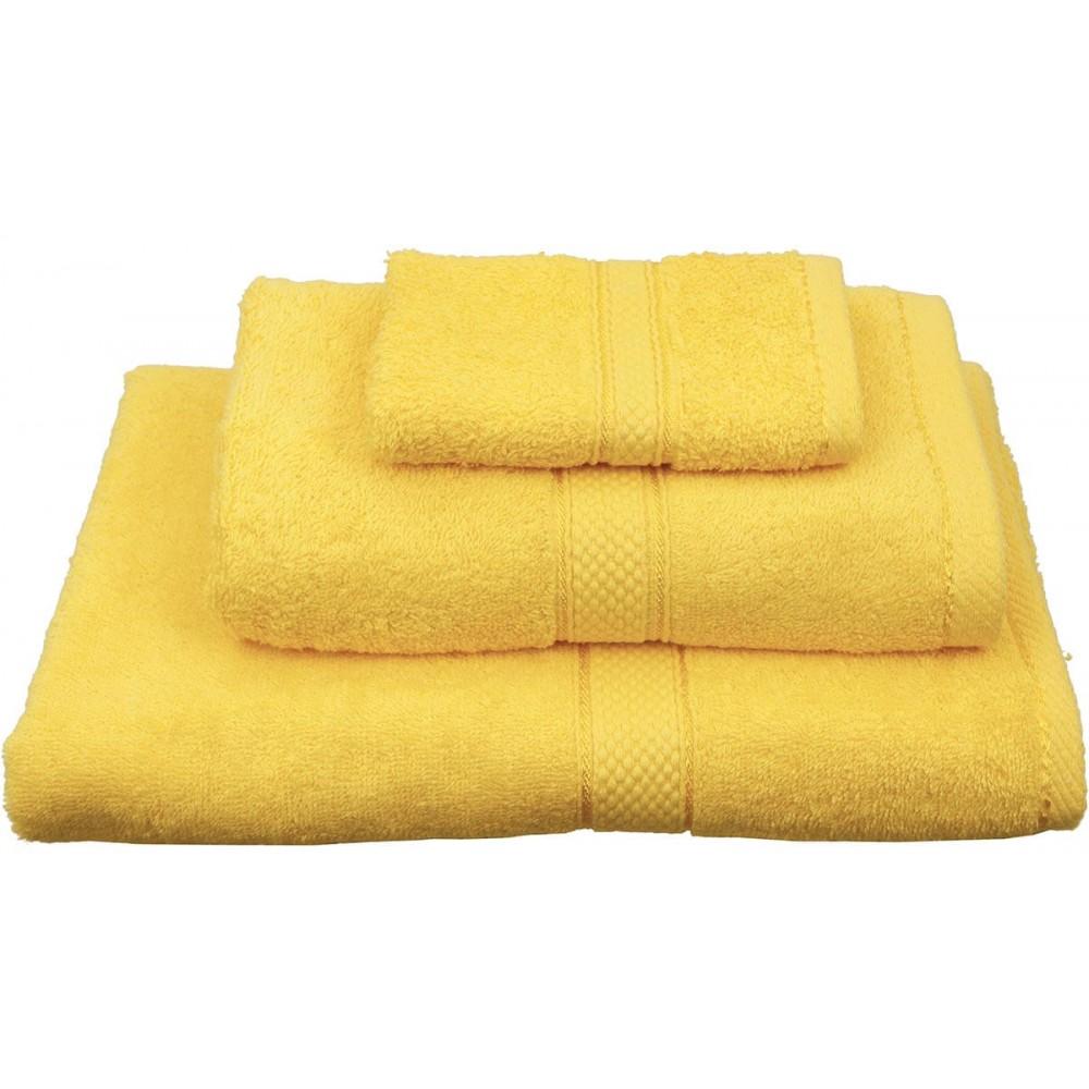 Πετσέτες μονόχρωμες κίτρινες Viopros Classic