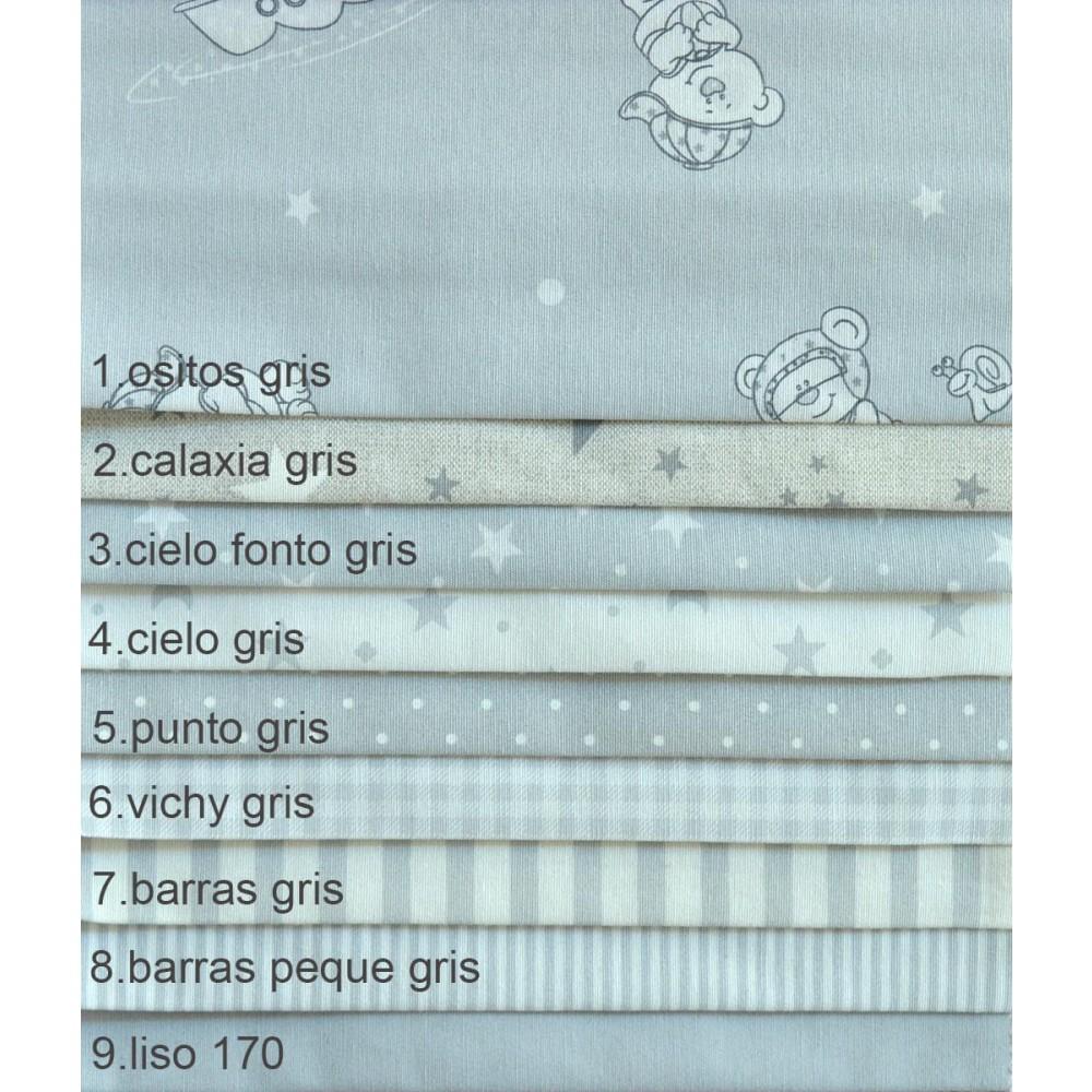 υφάσματα estampada gris