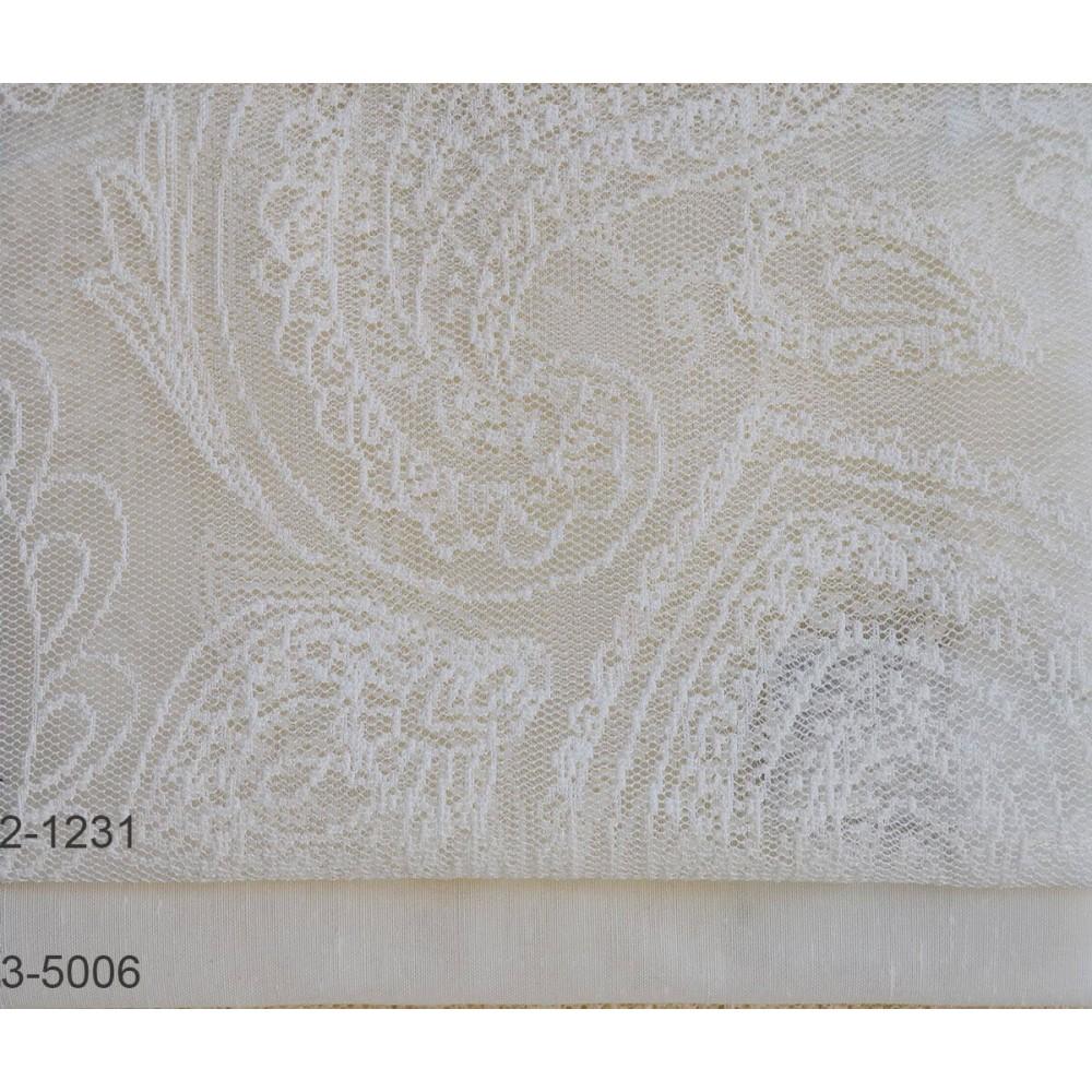 Κουρτίνες δαντέλες σετ Lahore 2-1231 Ivory