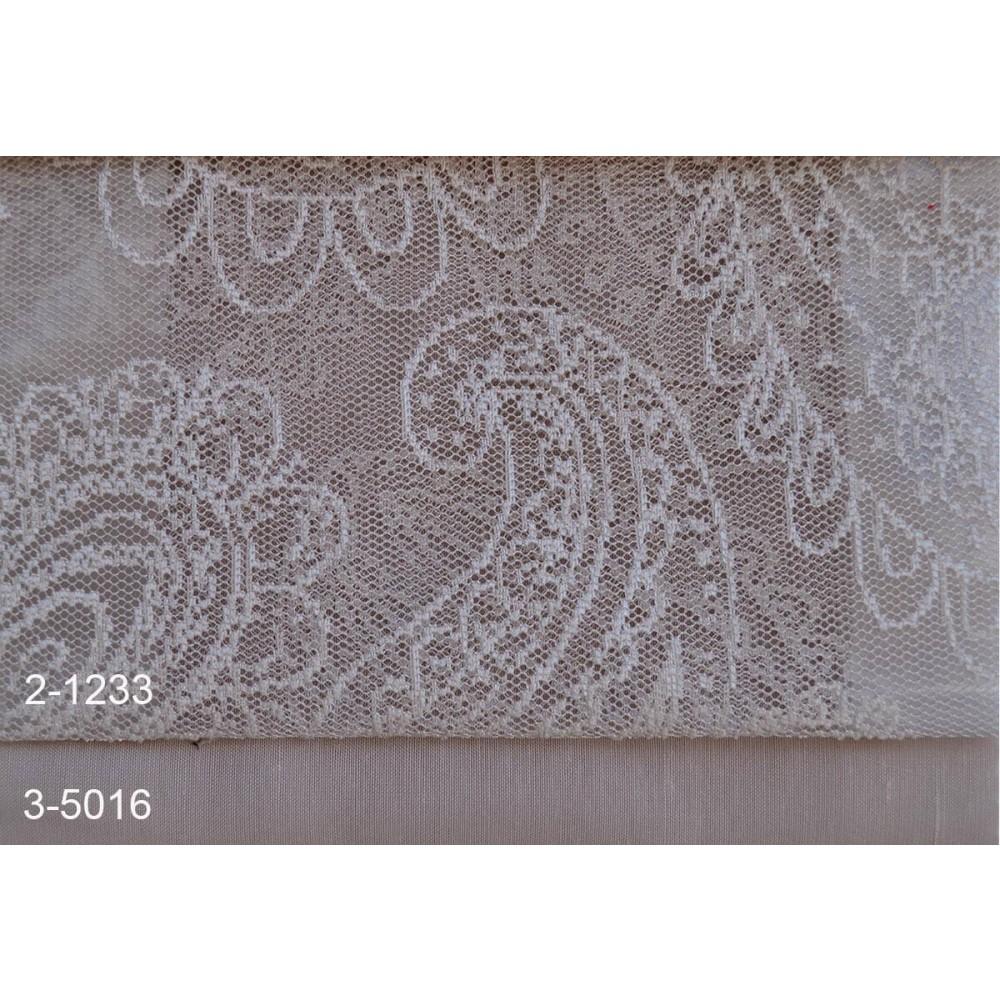 Κουρτίνες δαντέλες σετ Lahore 2-1233 Moss