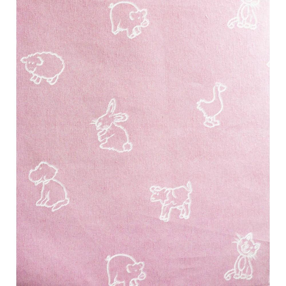 Ύφασμα λονέτα bebe ρόζ ζωάκια matilde 1