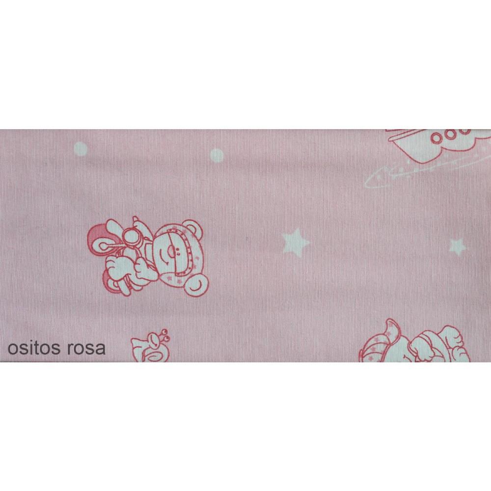 Ύφασμα bebe με το μέτρο Estampada Ositos rosa