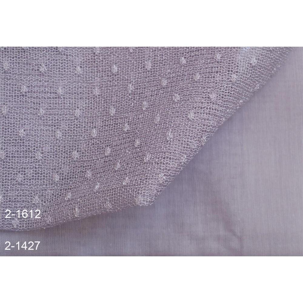 Κουρτίνες σετ δαντέλες-γάζα με το μέτρο Pua 2-1612 Lila