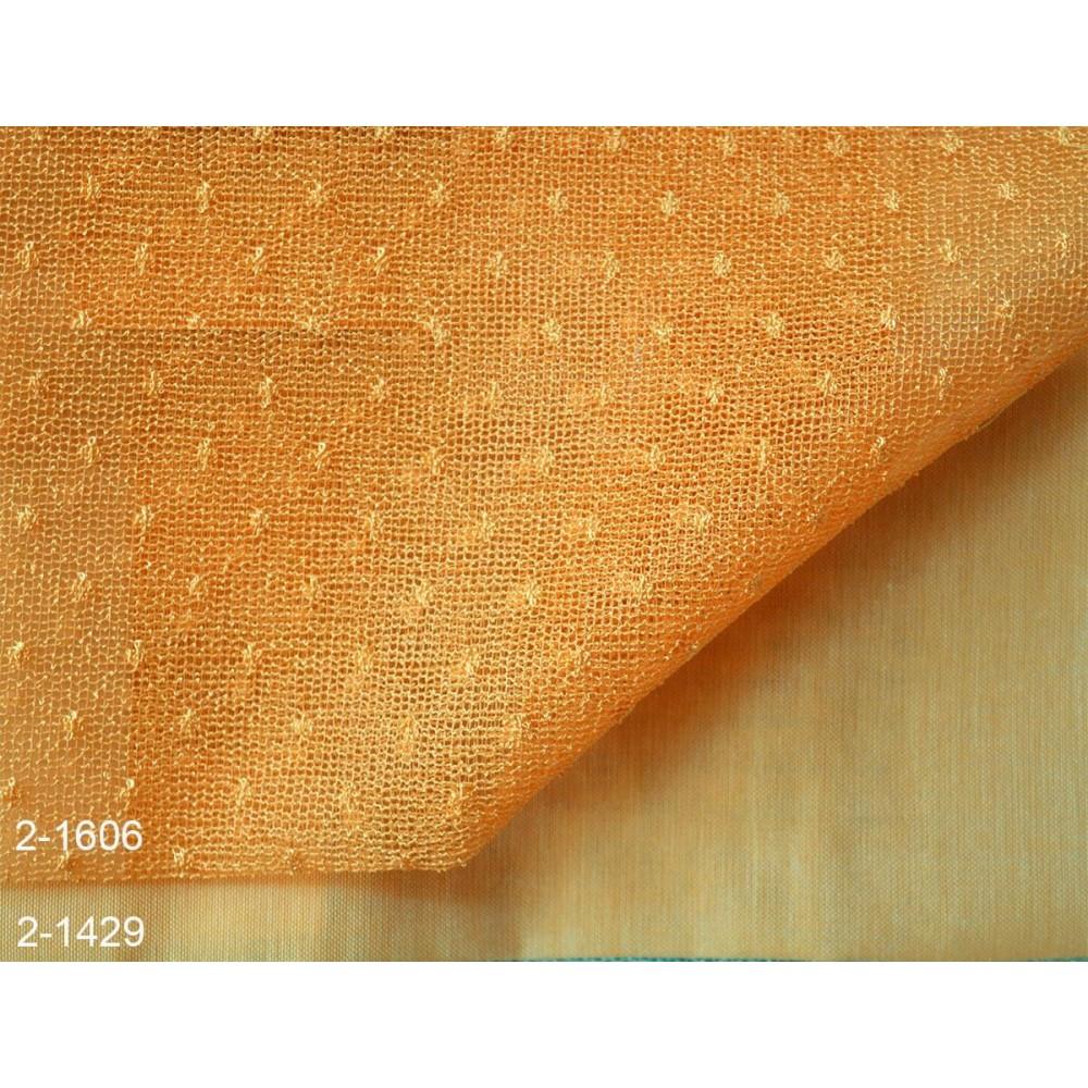 Κουρτίνες σετ δαντέλες-γάζα με το μέτρο Pua 2-1606 Orange