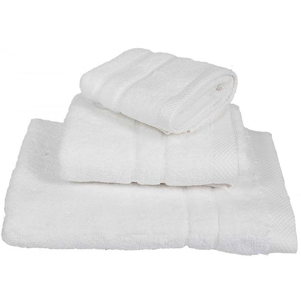 Πετσέτες μονόχρωμες λευκές Le Blanc πεννιέ 600gr/m2