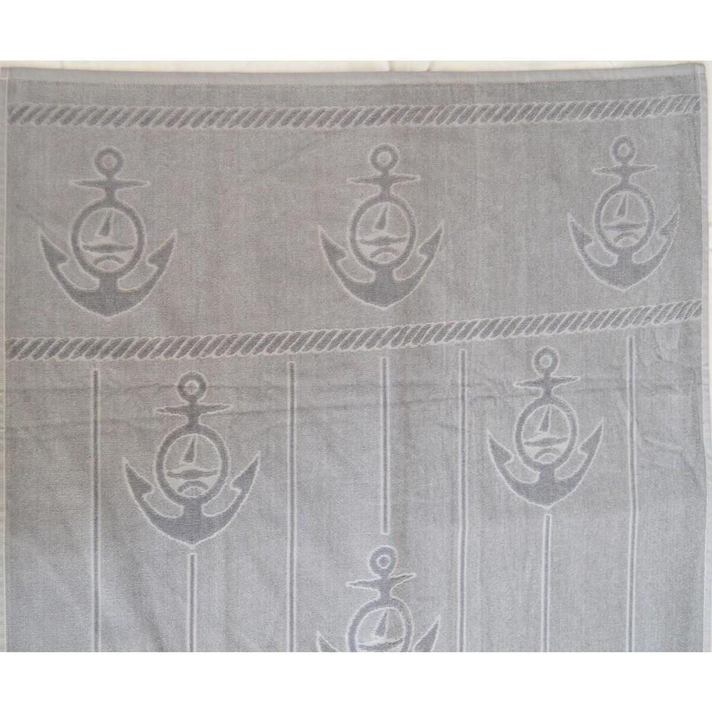Πετσέτα θαλάσσης Anker grey βελουτέ_1
