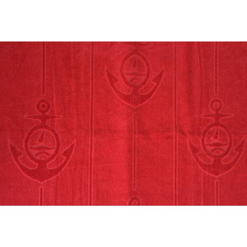 Πετσέτα θαλάσσης Anker red βελουτέ_1