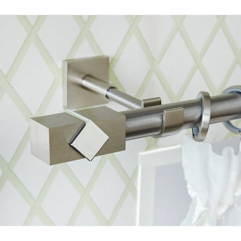 Κουρτινόξυλο Aslanis Home Caldera metal Νίκελ σατινέ Φ25mm