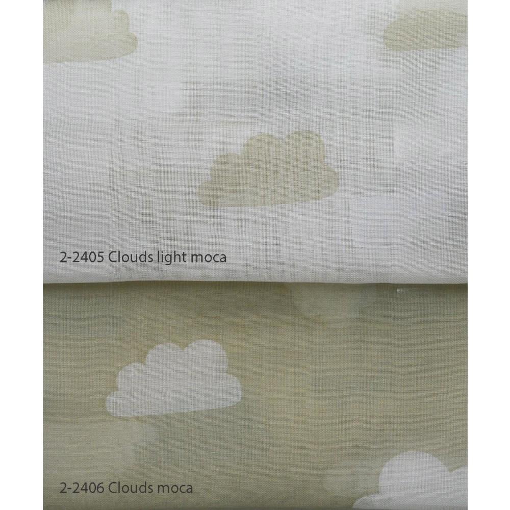 Κουρτίνες σετ γάζα με το μέτρο Clouds moca 5992