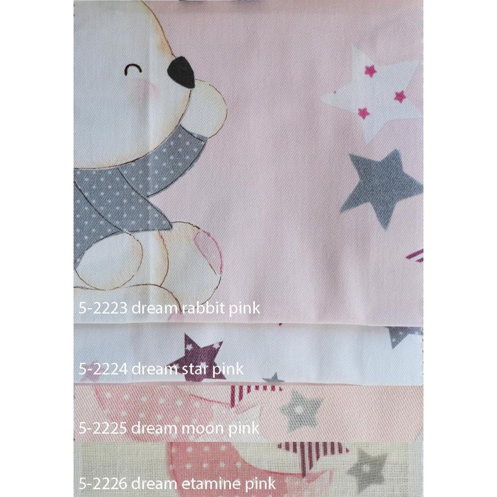 Παιδικές κουρτίνες σετ με το μέτρο Dream pink 5985