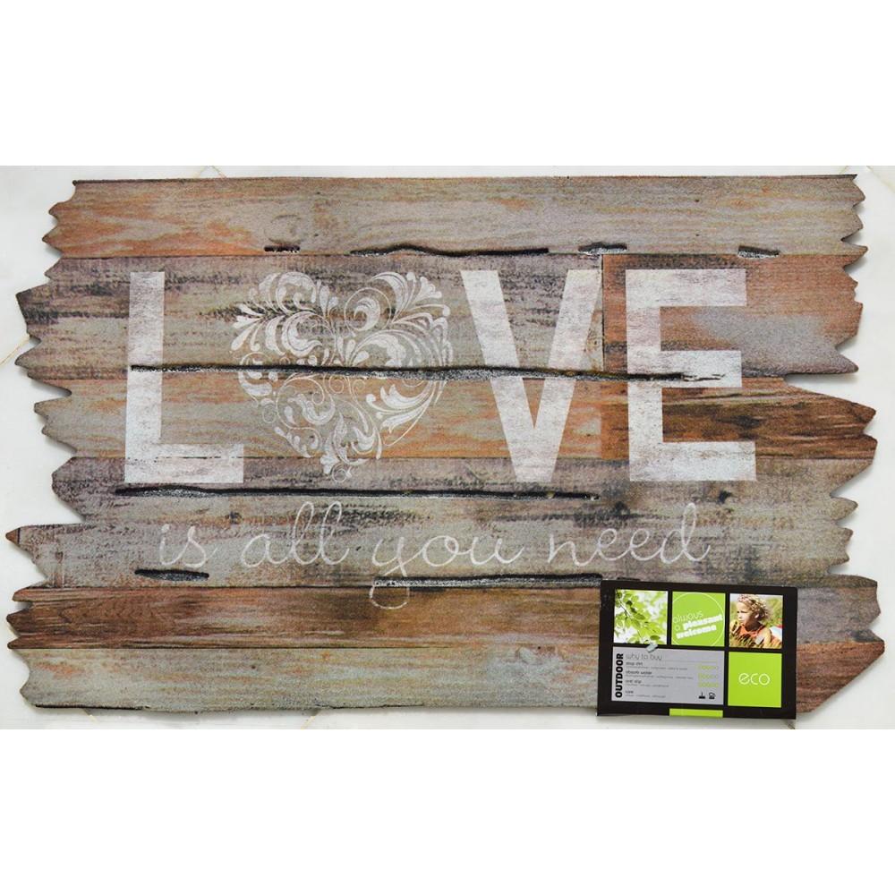 Χαλάκια εισόδου Ecomat 835 love is all you need 45x75cm