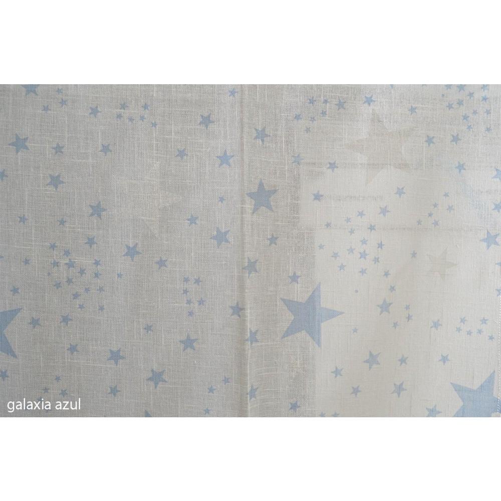 Κουρτίνα παιδική με το μέτρο Galaxia azul_1