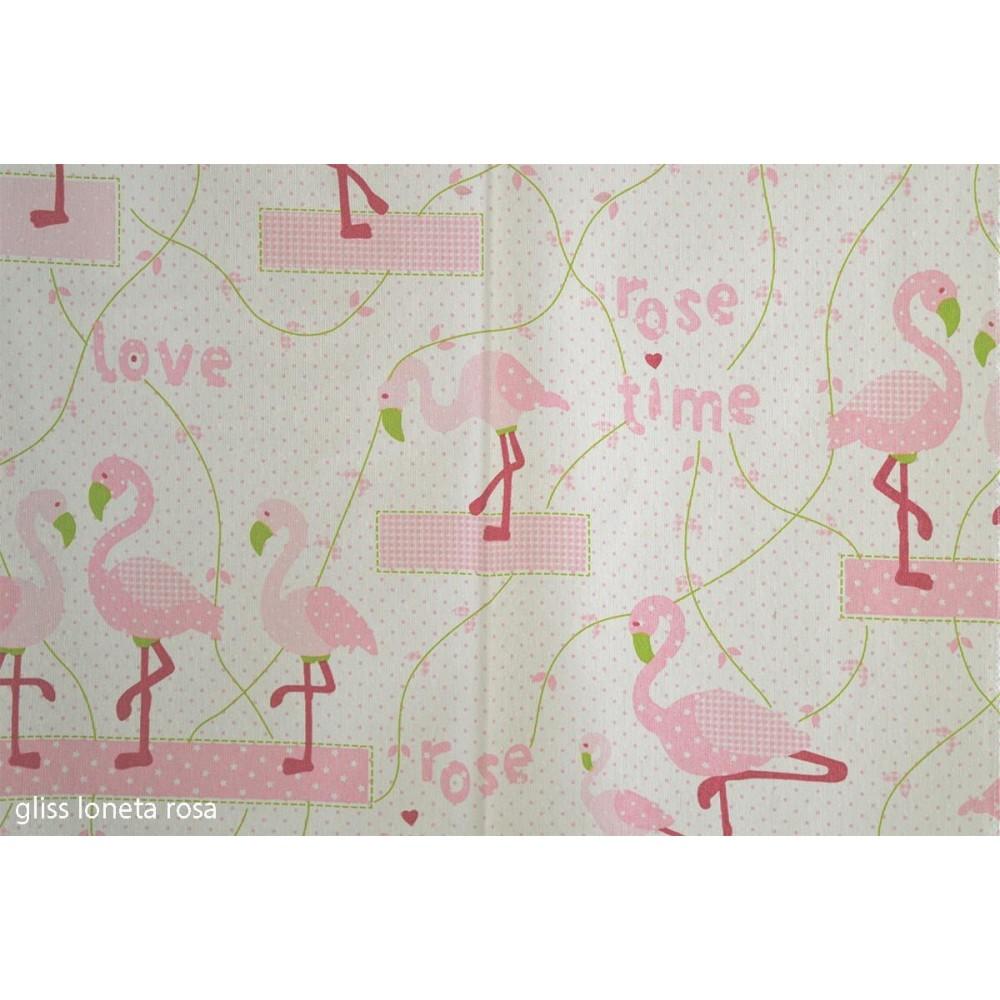 Ύφασμα λονέτα εμπριμέ Gliss rosa με το μέτρο_1