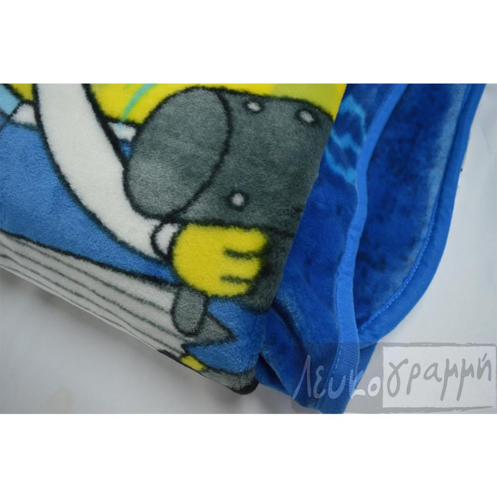 Κουβέρτα παιδική βελουτέ Sponge Bob_1