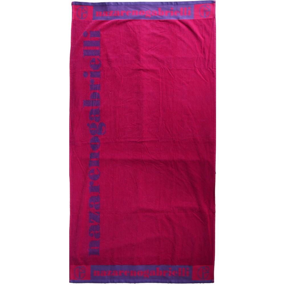 Πετσέτα θαλάσσης Logo purple-fuchsia βελουτέ 85x170cm