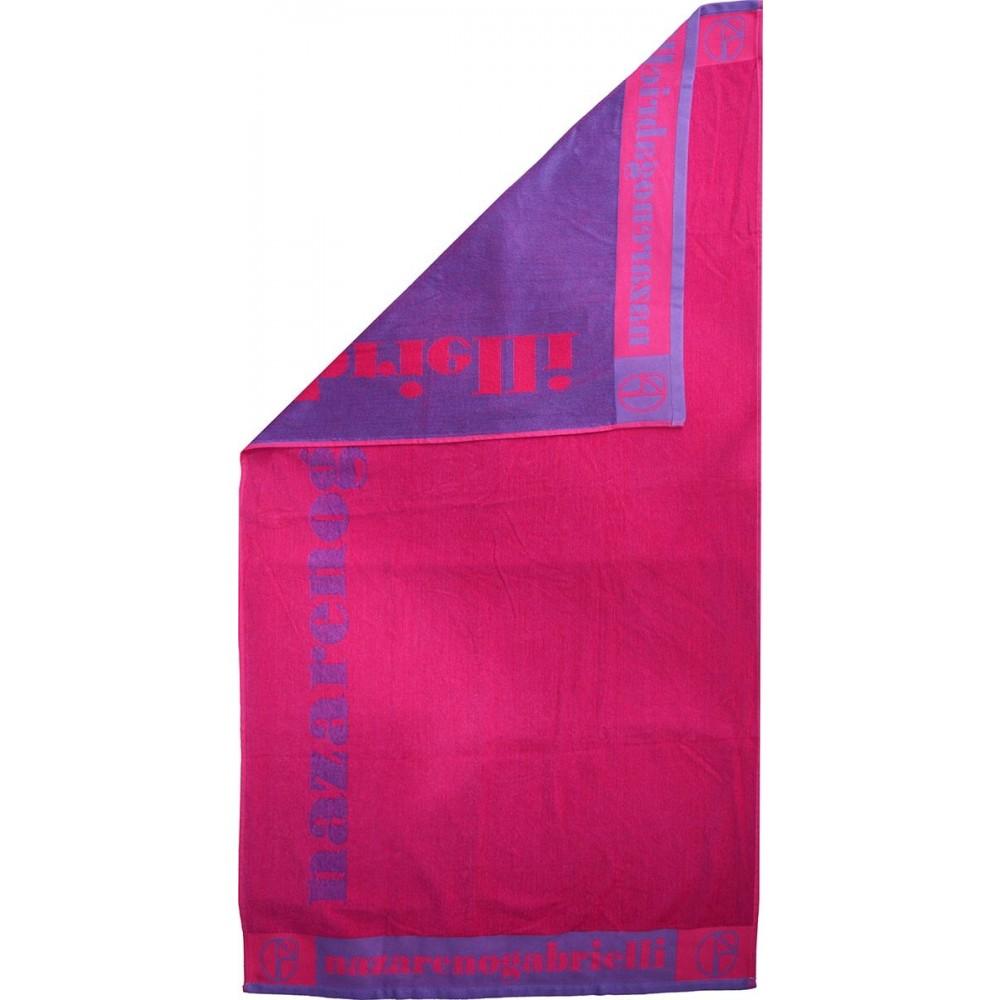 Πετσέτα θαλάσσης Logo purple-fuchsia βελουτέ_1