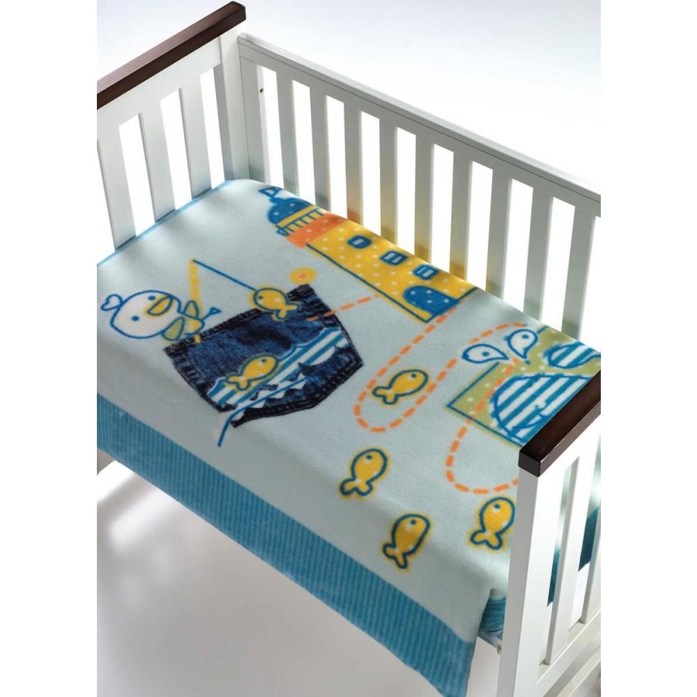 Κουβέρτα βρεφική αγκαλιάς Morven Magic Baby Blue 055-5