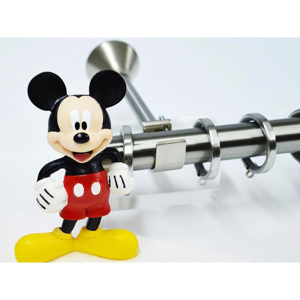 Κουρτινόξυλο παιδικό Disney Mickey Ø 25 mm nickel