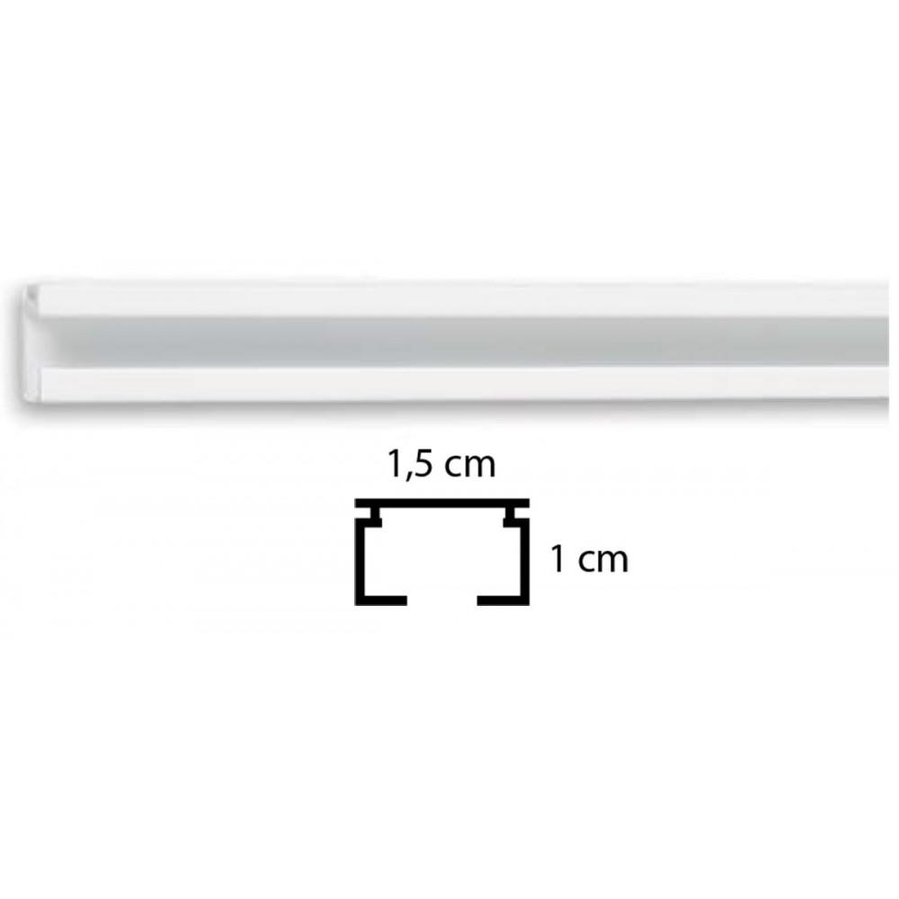 Σιδηρόδρομος μονός λευκός Δανίας 1.5cm
