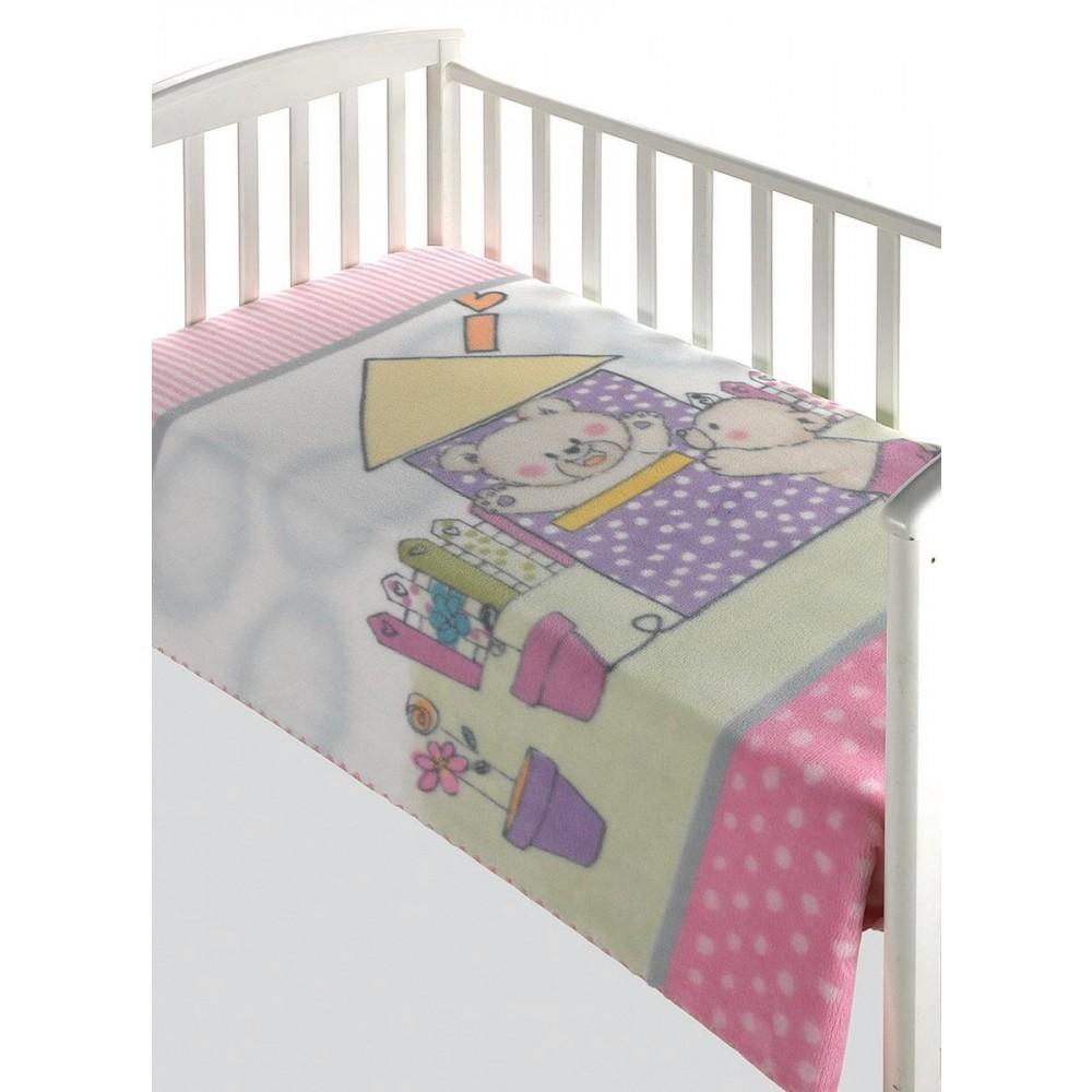 Κουβέρτα βρεφική αγκαλιάς Morven Magic Baby Pink 285-4