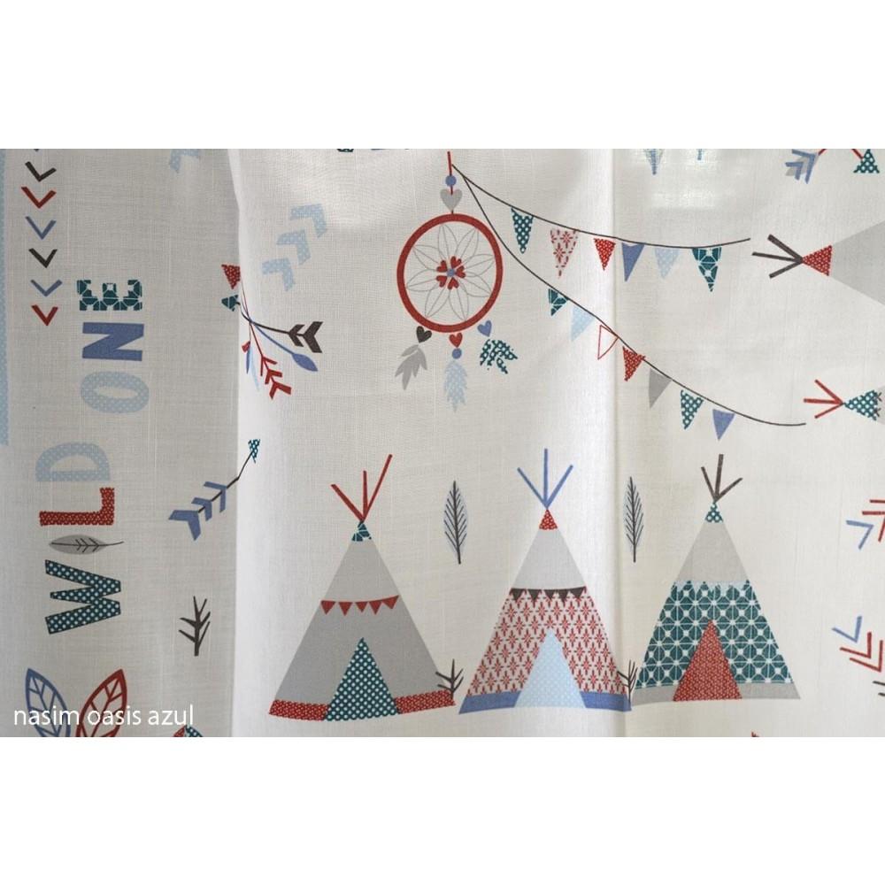 Κουρτίνα παιδική Nasim oasis azul_1
