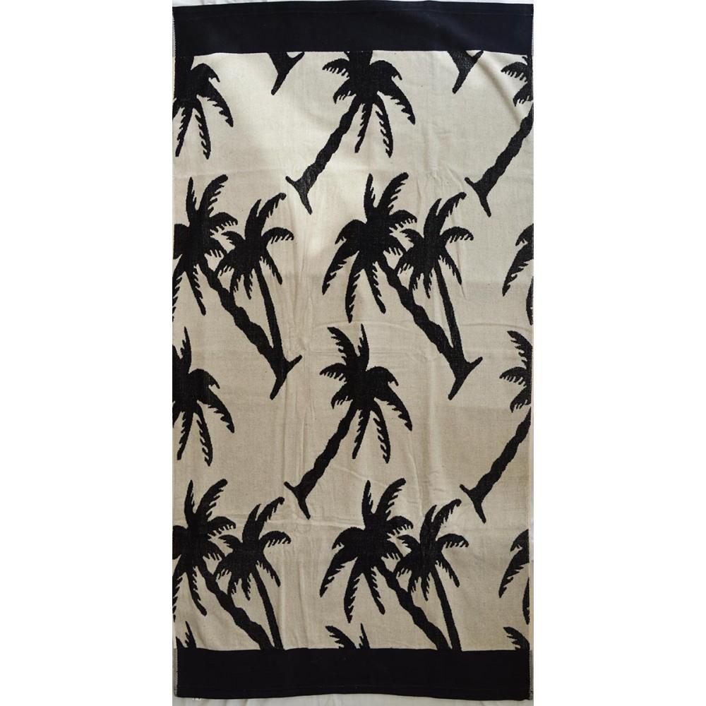 Πετσέτα θαλάσσης Palm trees βελουτέ 85x170cm