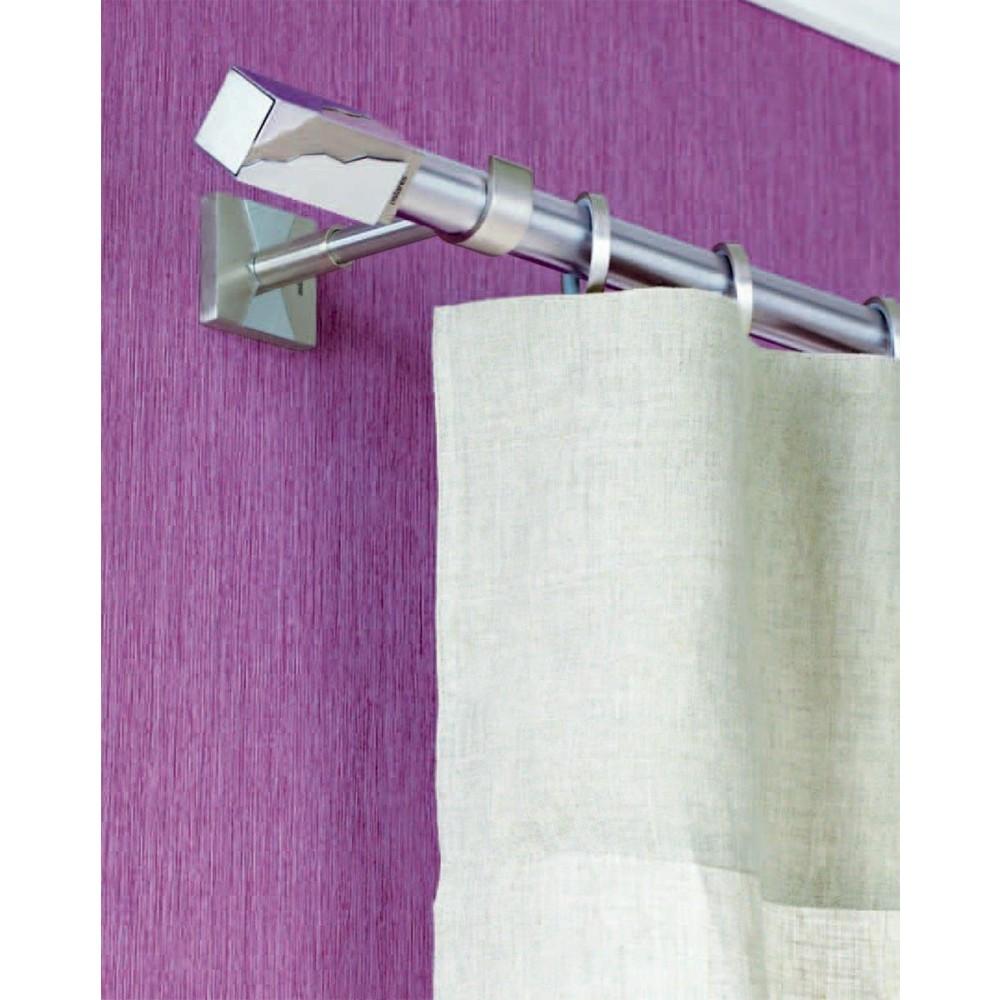 Κουρτινόξυλο Aslanis Home Perfection Νίκελ σατινέ Φ25mm