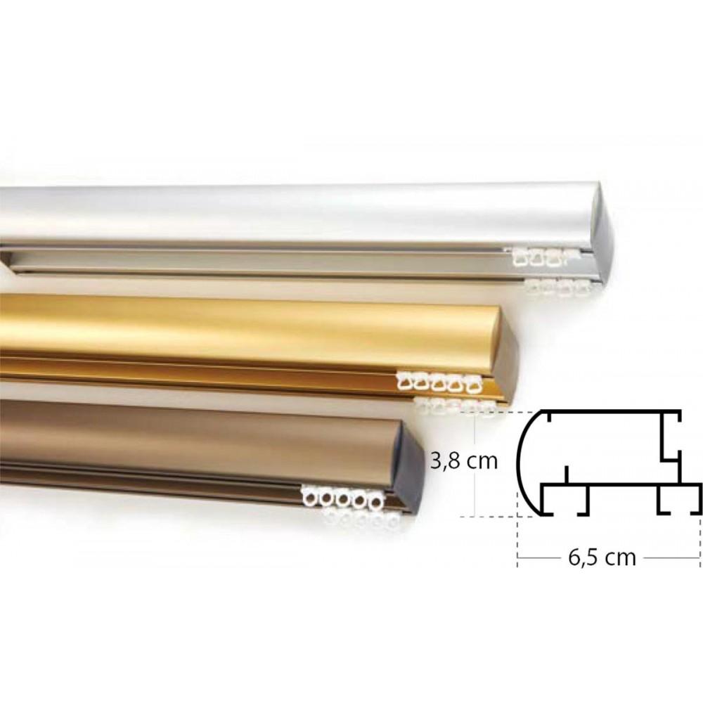 Σιδηρόδρομος αλουμινίου Πομπέ διπλός απλός (4 χρώματα)