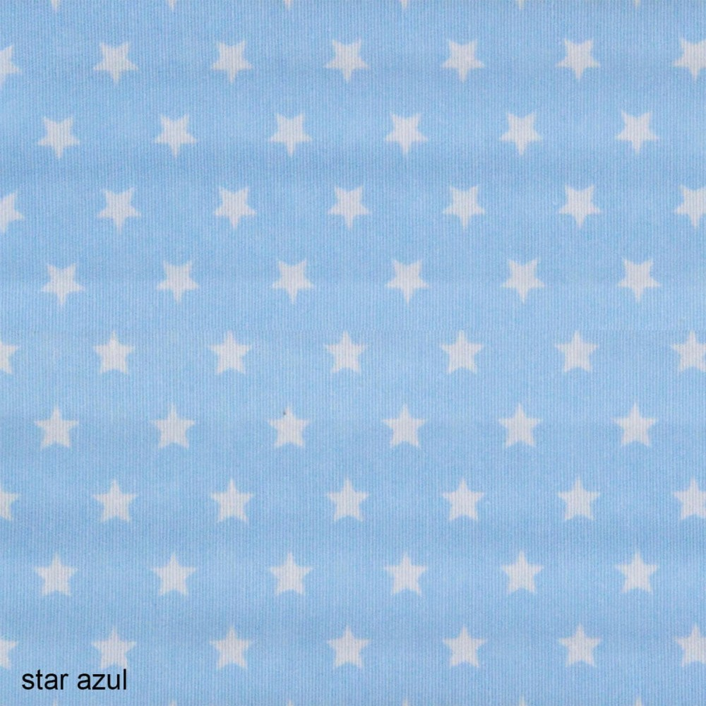 ύφασμα Candy Star azul