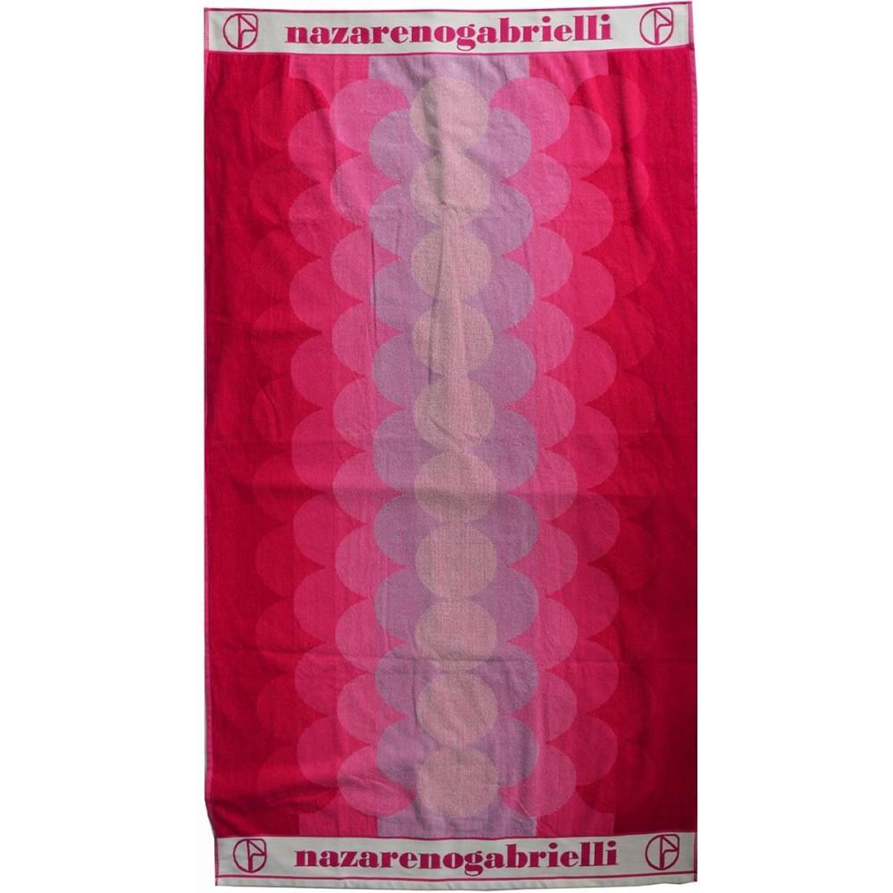 Πετσέτα θαλάσσης Wave lilac βελουτέ 85x170cm